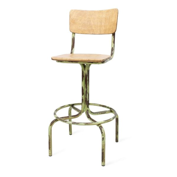 High cafeteria stools.