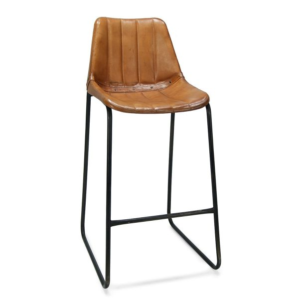 Picture of the vintage leahter hospitality stools Mews.
