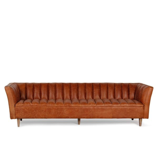 Vintage waiting room sofa.
