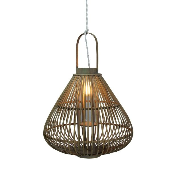 Bamboo luminaire for commercial business.