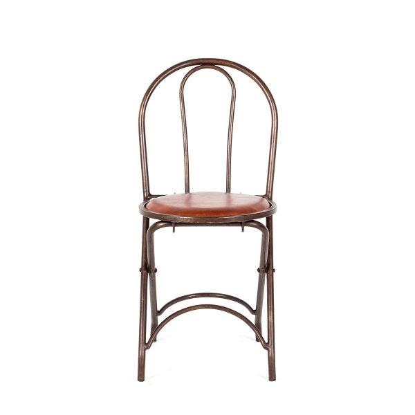 Chaise pliante cafétéria.
