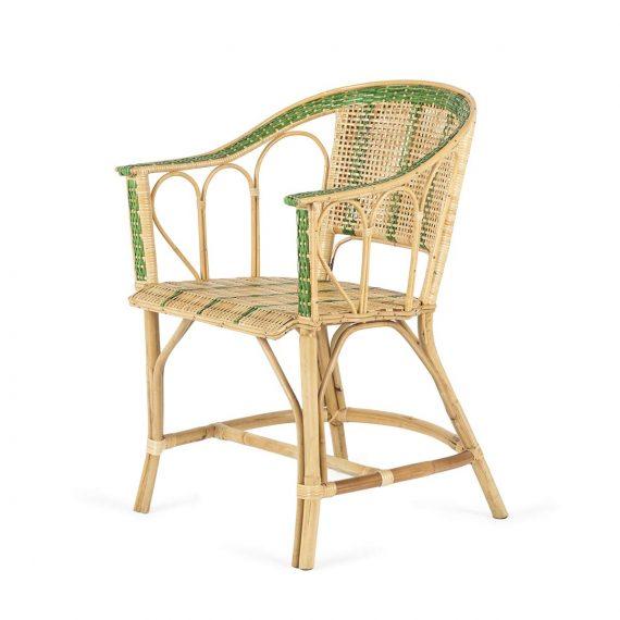 Chaise terrasse rotin.