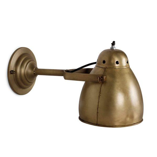 Lámpara de pared dorada modelo Vilna.