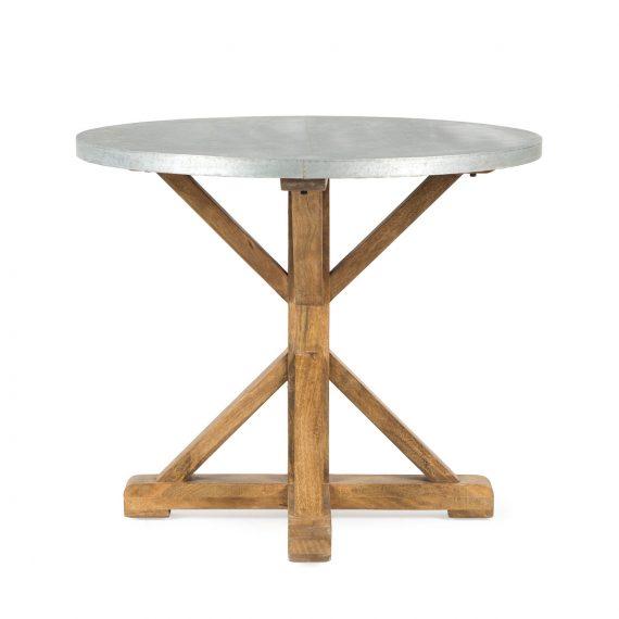 Mesa redonda cafetería.