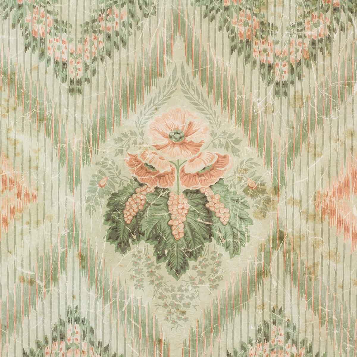 Papier peint texturé au desing vintage.