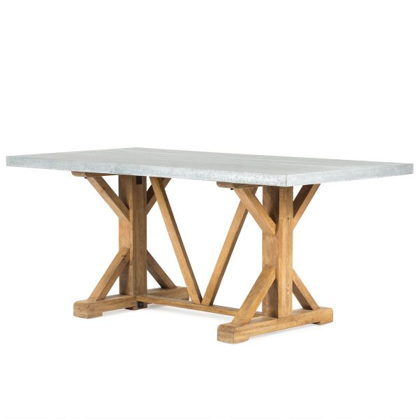 Rectangular table.