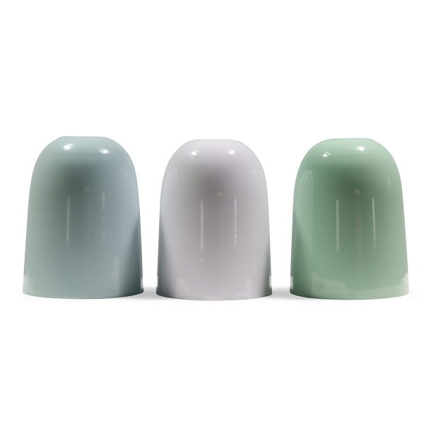 Retro lampshades for lamps. Pale tones.