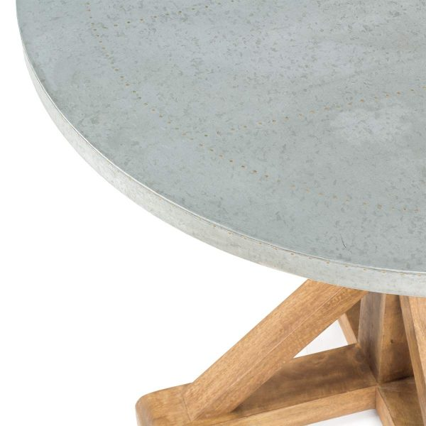 Round restaurant table.