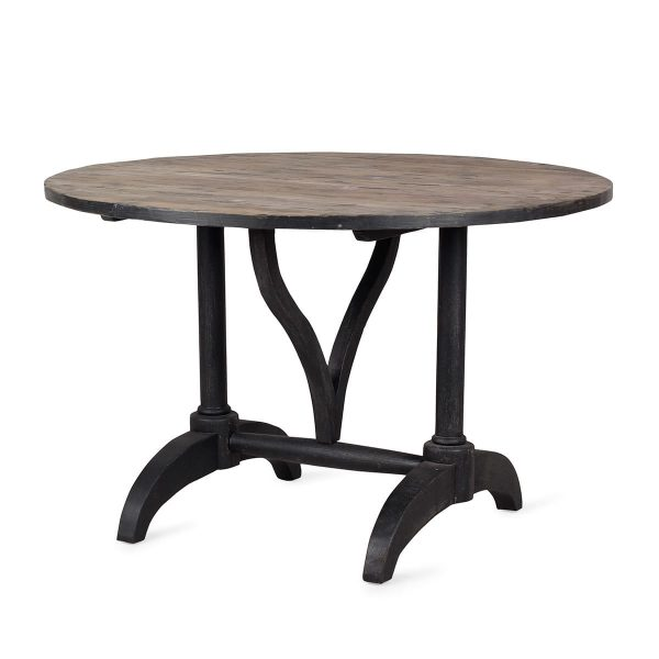 Round wooden tables.