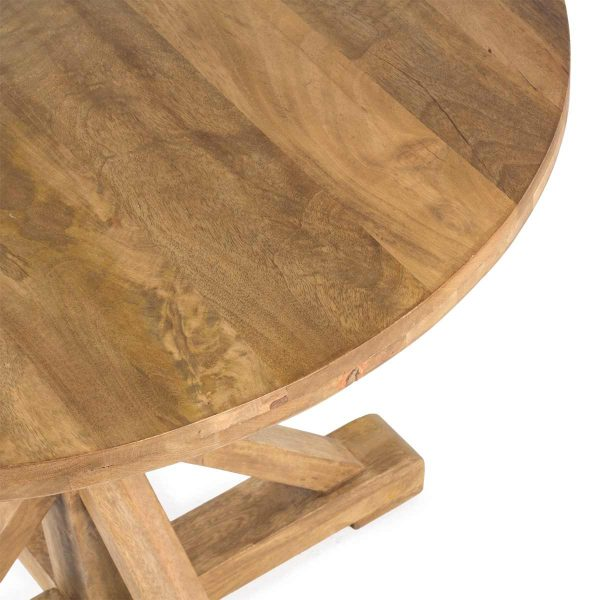 Solid wood tables.