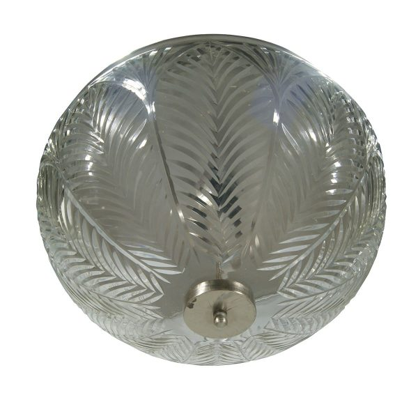 Steel and glass ceiling lamp Flower.