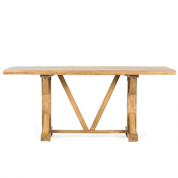 Wood rectangle table.