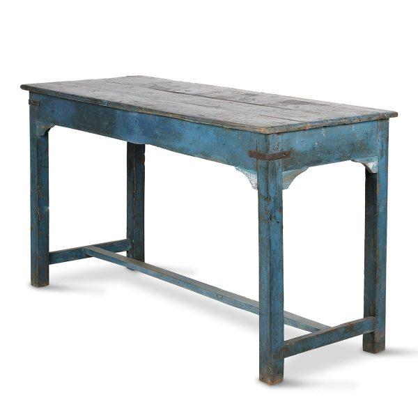 Antique blue table.