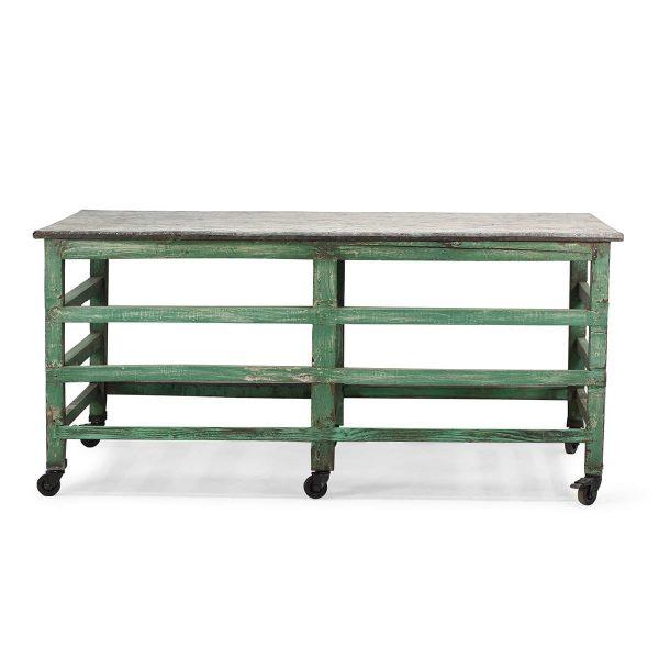 Antique shop table.