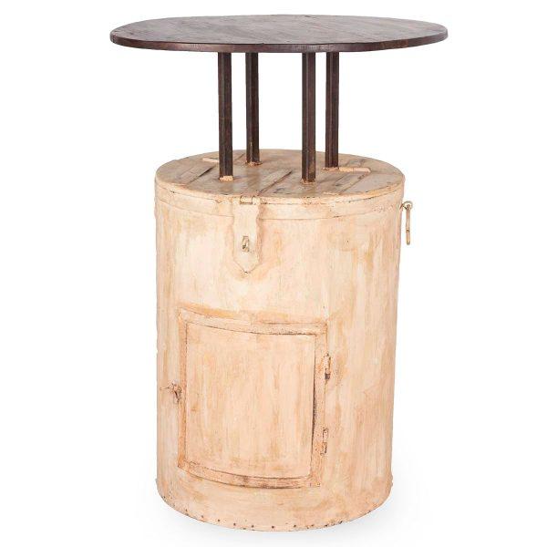 Bar height tables.