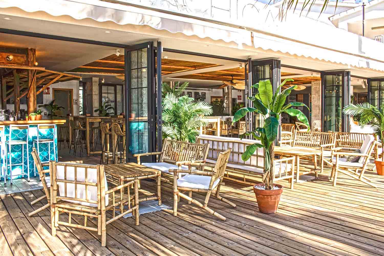 Diseño de la terraza de Playachica.