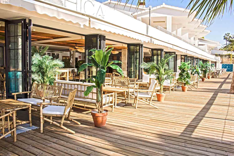 Diseño de la terraza Playachica.