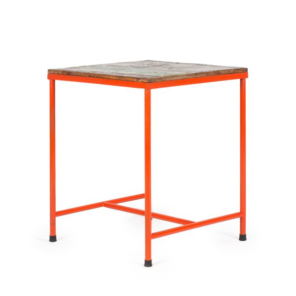 Orange café table.