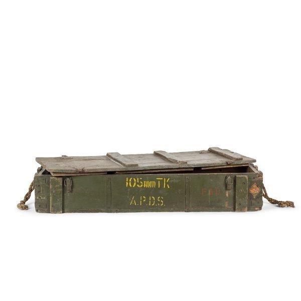 Vintage military trunks.