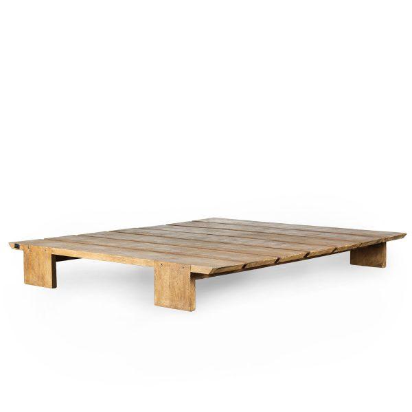 Base cama madera.