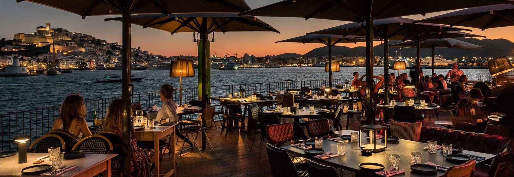 Décoration restaurant Ibiza.