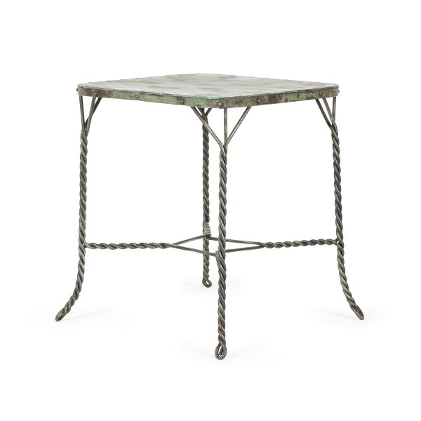 Commercial wrought iron tables.