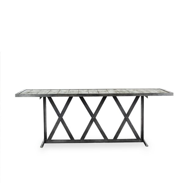 Iron commercial table.