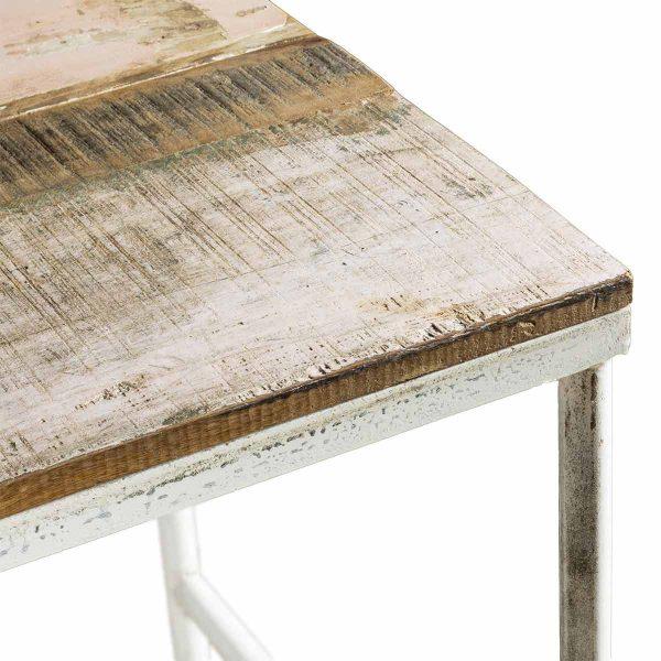 Mesas cafetería en color blanco modelo Ágora.