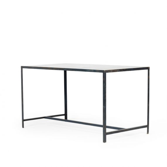 Metal tables. Commercial furnishing.