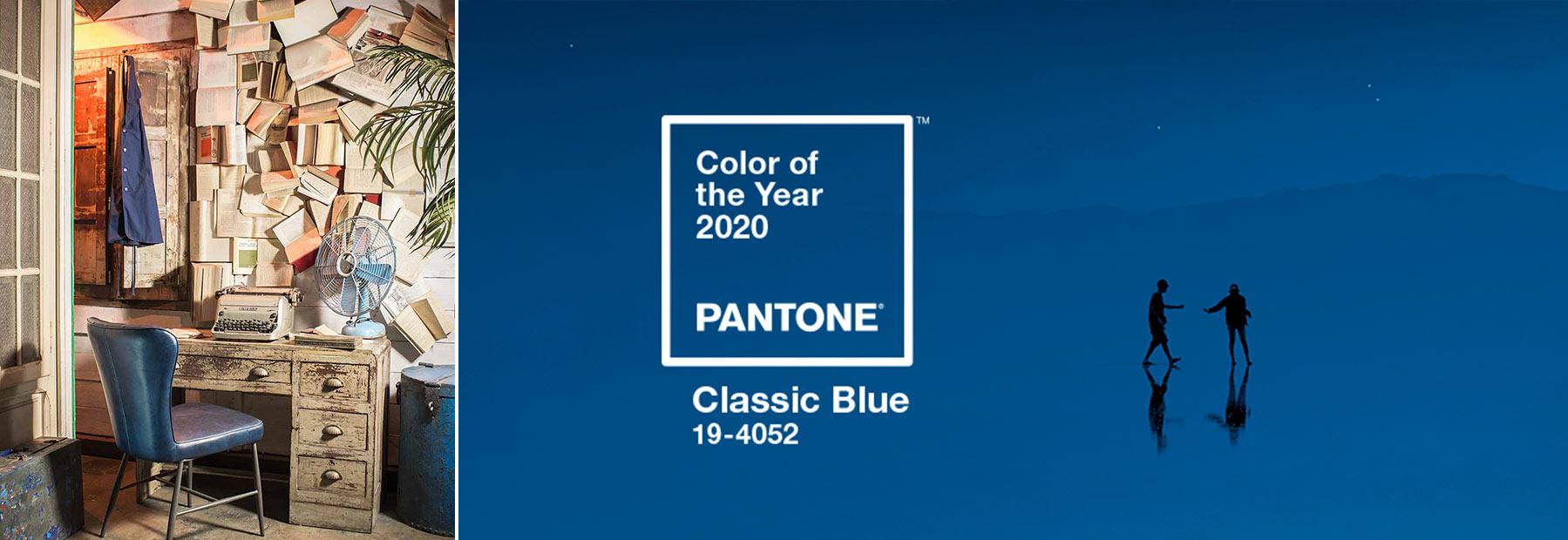Pantone Classic Blue pour décoration et mobilier.