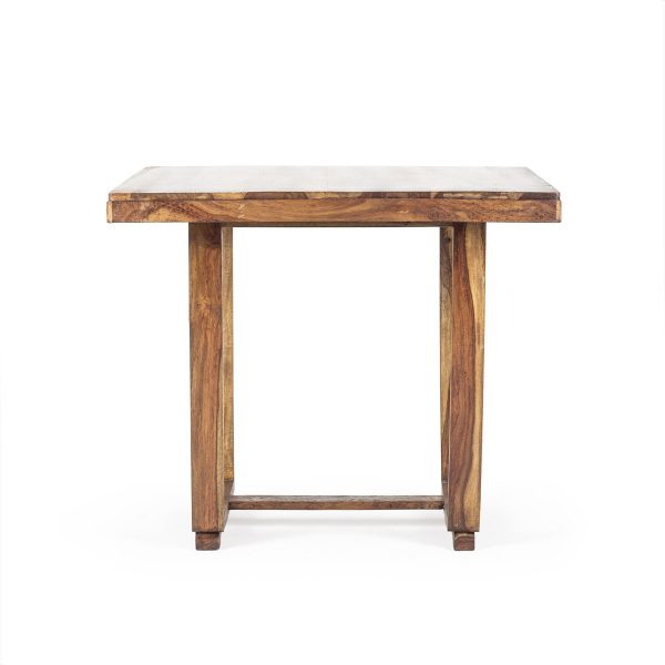 Rustic wood tables.