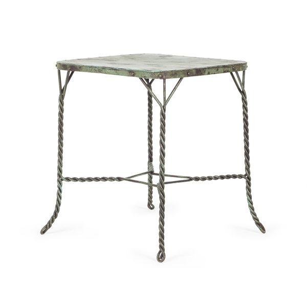 Table en fer forgé pour commerces.