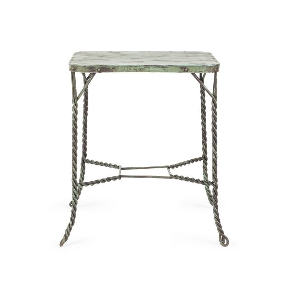 Wrought iron tables sold by Francisco Segarra.