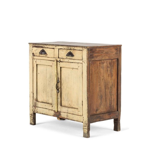 Ancien meuble d'appoint en bois.