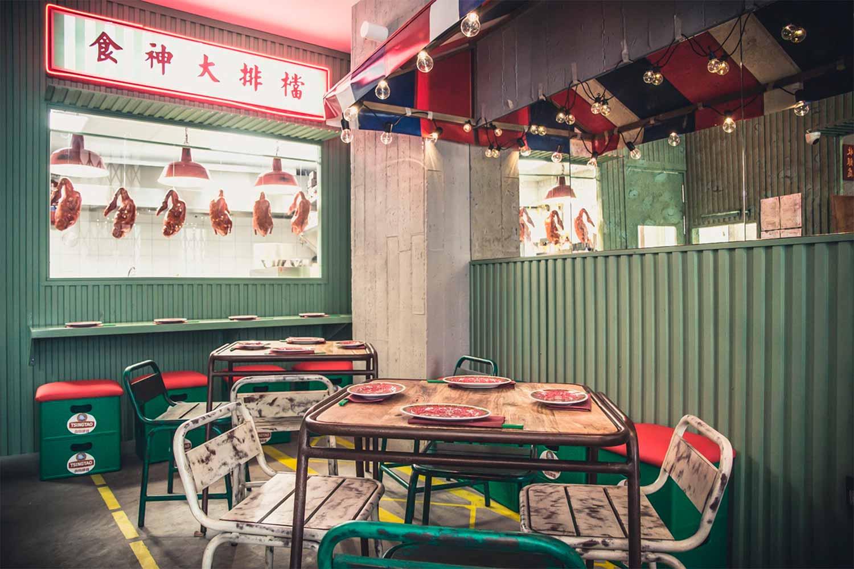 Déco restaurant chinois.