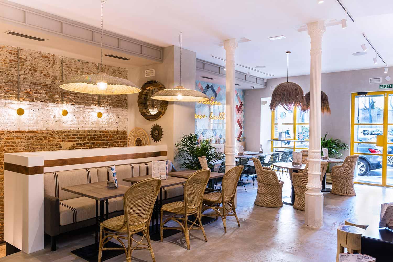Décoration d'intérieurs de restaurant.
