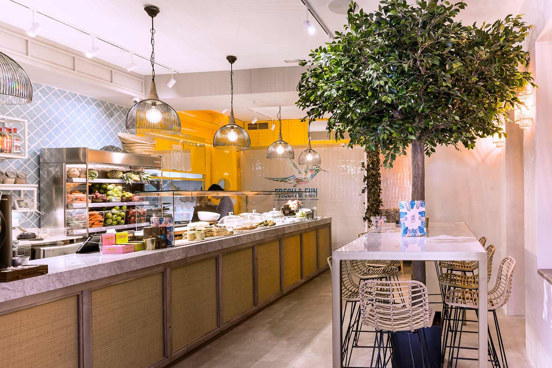Décoration restaurant healthy.