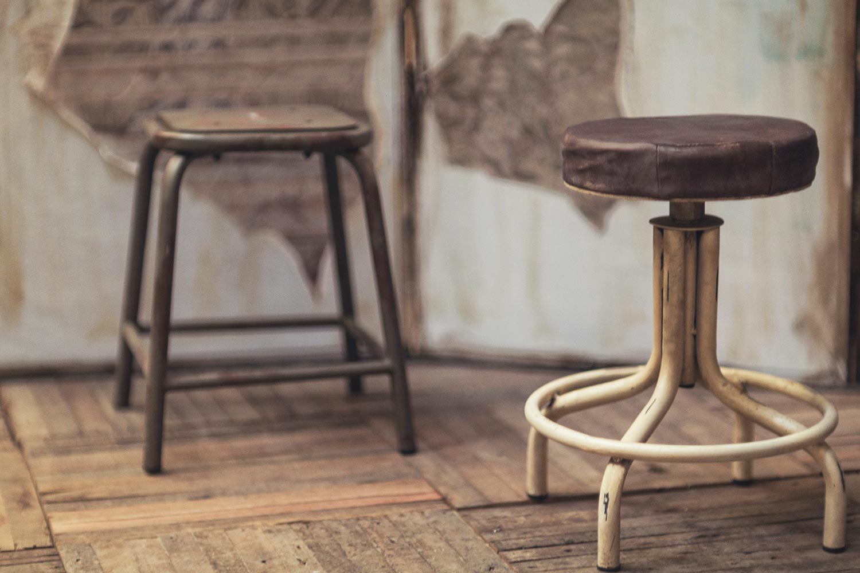Hospitality low stools.