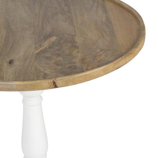 Mesa redonda para cafeterías.