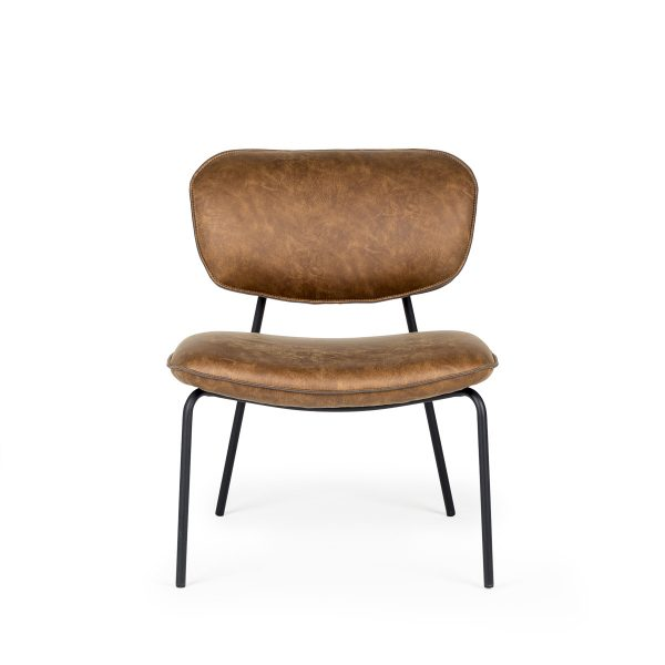 Upholstered contract armchair.