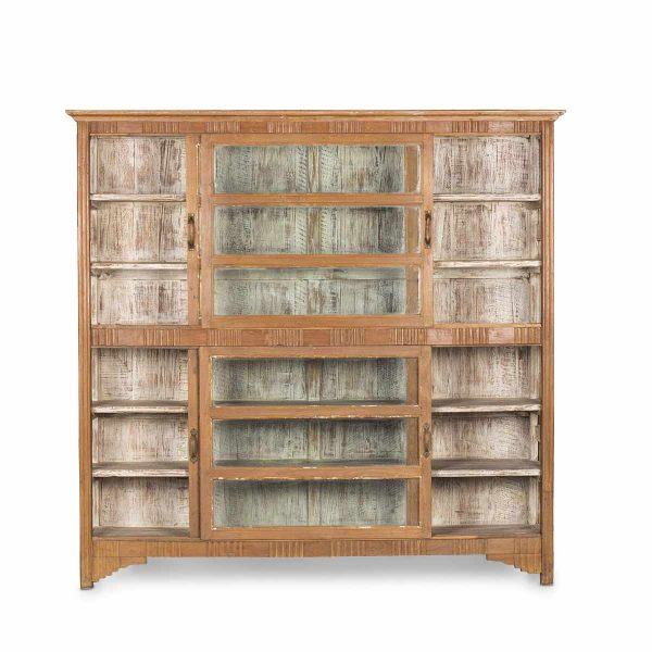 Antique display case for commercial decoration.