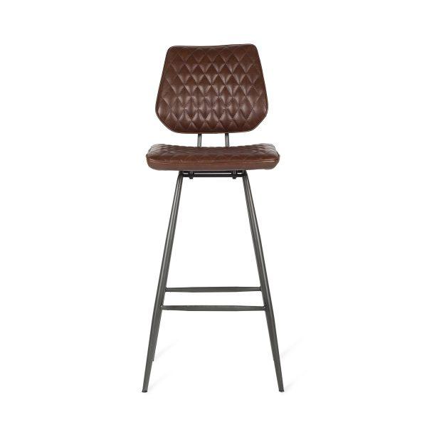 High bar stool with backrest.