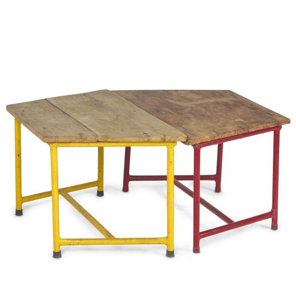 Low height coffee tables.