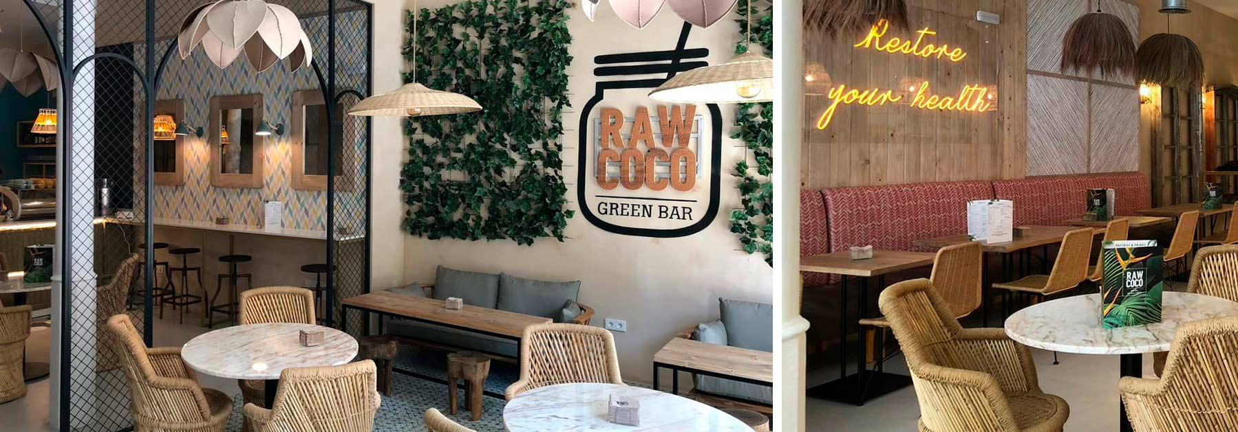 Mobiliario y decoración exótica para restaurantes.