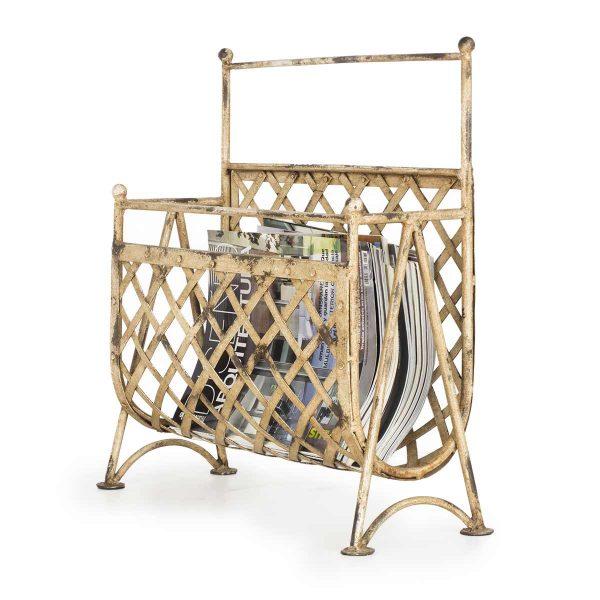 Modern magazine racks.