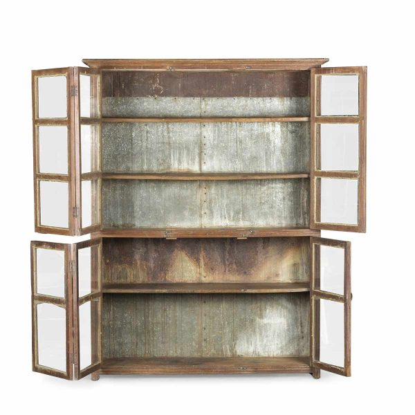 Old display cabinet for commercial decoration.