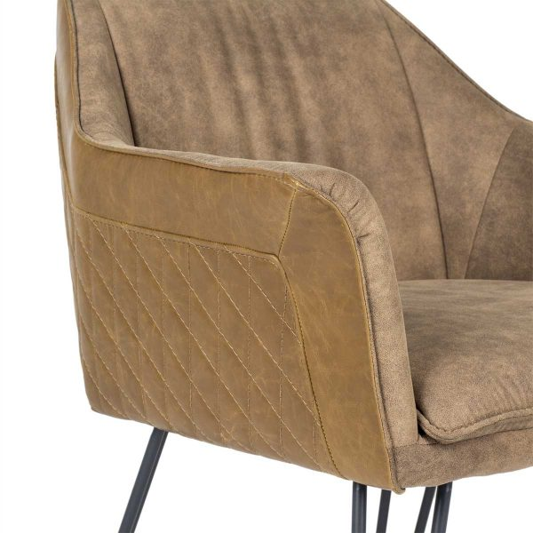 Retro upholstered armchairs.