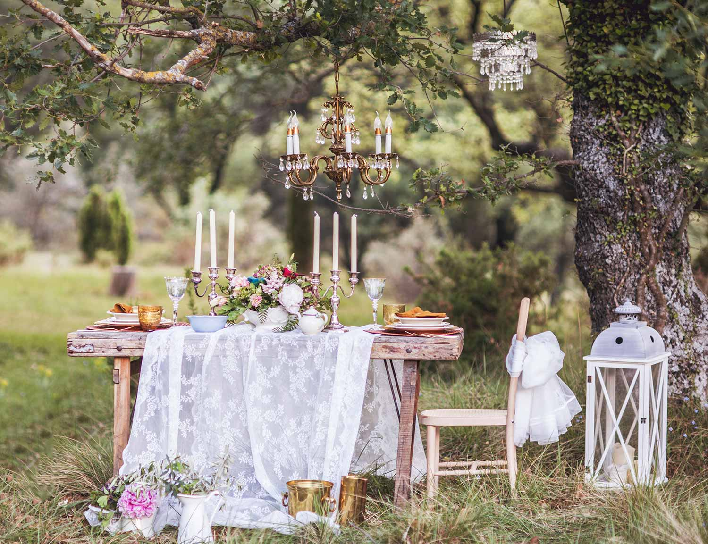 Vintage wedding table.