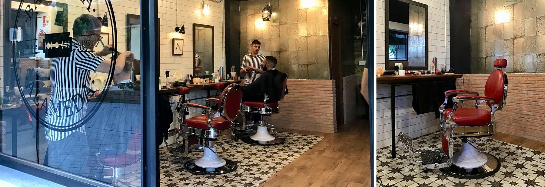 Décoration intérieure pour barbiers et coiffeurs.