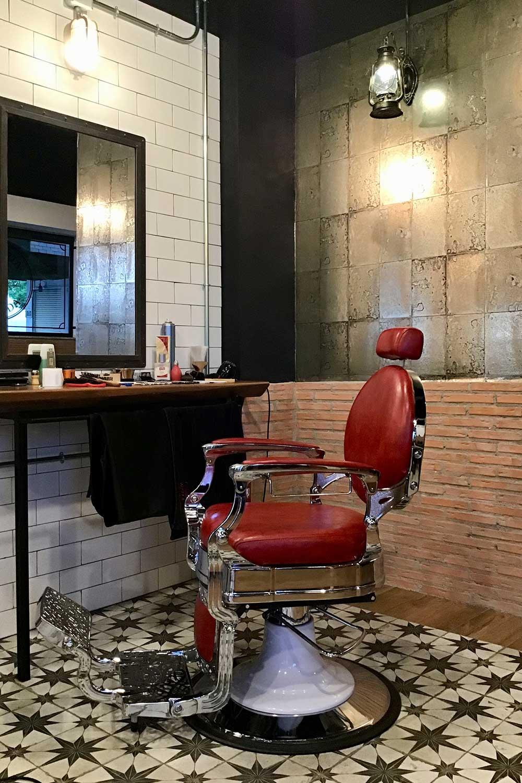 Pavimento cerámico para barberías.